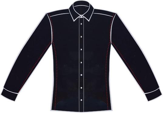 detailed look d8917 578a5 Größentabelle für stark taillierte, schlank geschnittene Hemden