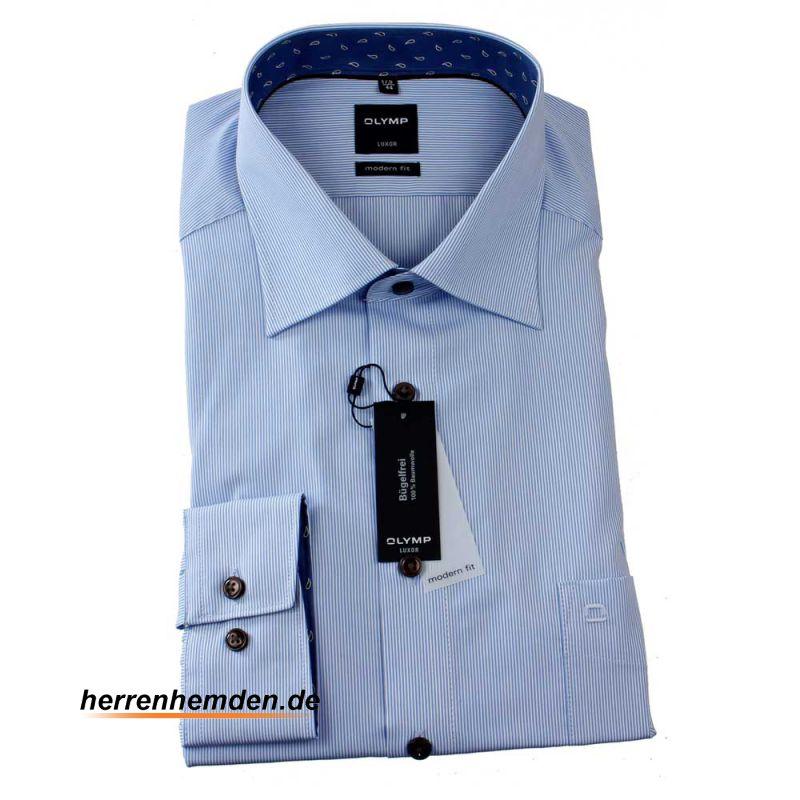 olymp luxor men s shirt modern fit uni long sleeve 0402. Black Bedroom Furniture Sets. Home Design Ideas