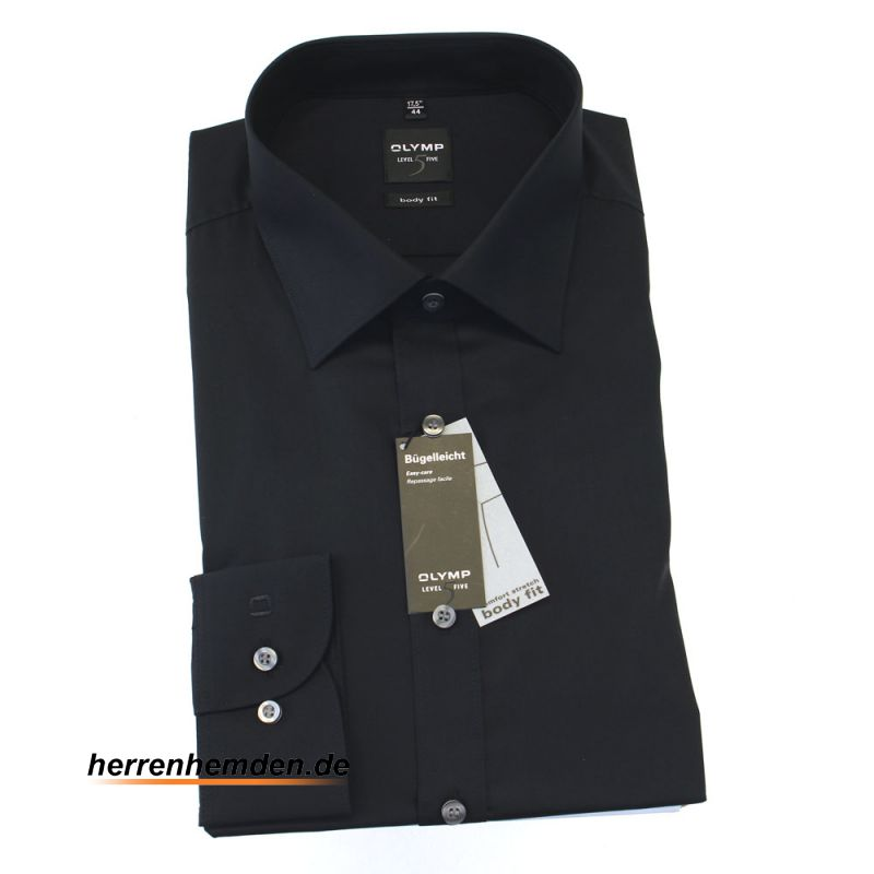 olymp shirt level five body fit uni long sleeve 6090 64. Black Bedroom Furniture Sets. Home Design Ideas