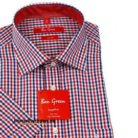 Ben Green LIGHT FIT a cuadros camisa para hombres mangas...