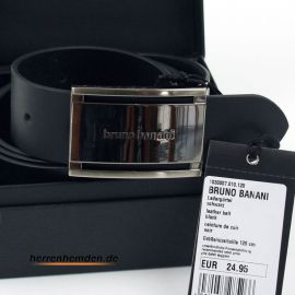 Bruno Banani belt 35mm genuine cow leather in black