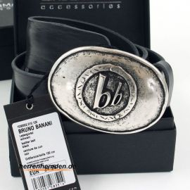 Bruno Banani belt 40mm genuine cow leather in black