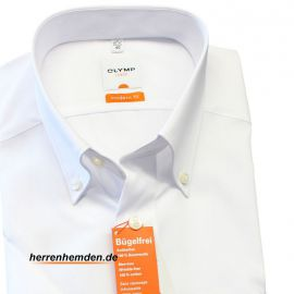 OLYMP LUXOR Hemd modern fit uni halbarm button-down...