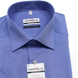 Marvelis Comfort Fit Men`s Shirt Chambray short sleeve...