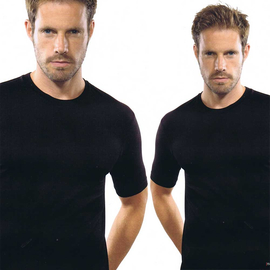 Marvelis T-Shirt black with Round-Neck (2-pack) (281600-68R)