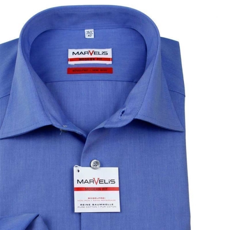 MARVELIS Hemd MODERN Fit Chambray langarm (4704-64-13e)
