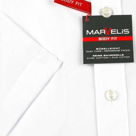 MARVELIS Hemd BODY FIT uni halbarm (6799-12-00e)