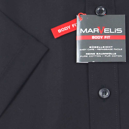MARVELIS Hemd BODY FIT uni halbarm (6799-12-68e)