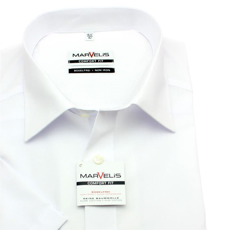 MARVELIS Men´s Shirt one colour short sleeve (7973-12-00)