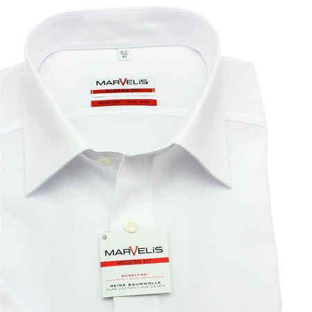 MARVELIS men´s`s Shirt MODERN FIT uni short sleeve (4700-12-00)