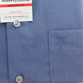 Marvelis Hemd Modern Fit Chambray Langarm (4704-64-61) 43 (XL)