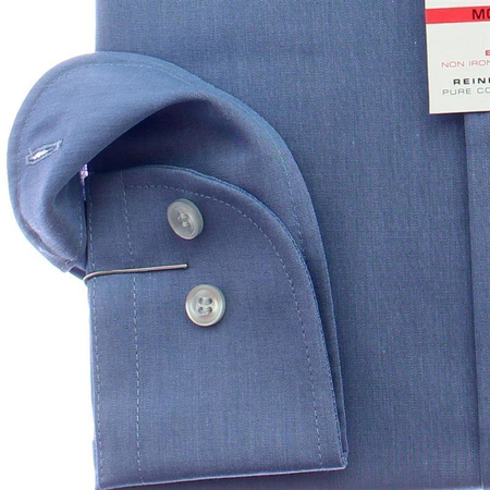Marvelis Hemd Modern Fit Chambray Langarm 46 (XXL)