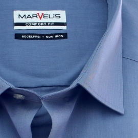 MARVELIS COMFORT Fit Hemd Chambray langarm (7959-64-61)