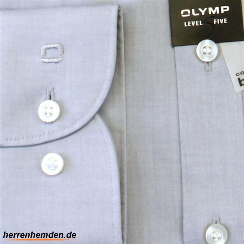 olymp hemd level five body fit uni extra langer arm 69cm 2080 69 60. Black Bedroom Furniture Sets. Home Design Ideas