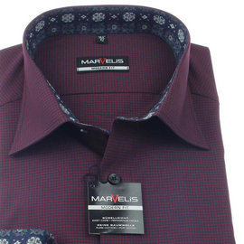 Marvelis Hemd Modern Fit MINI-Karo Langarm