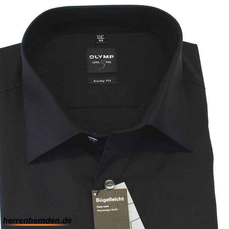 olymp hemd level five body fit uni langarm 6090 64 68 49 95. Black Bedroom Furniture Sets. Home Design Ideas