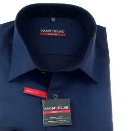Marvelis Hemd BODY FIT edles Chambray langarm