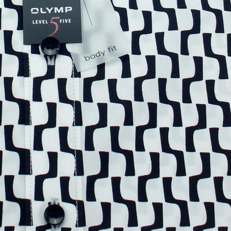 OLYMP Shirt Level Five BODY FIT print long sleeve