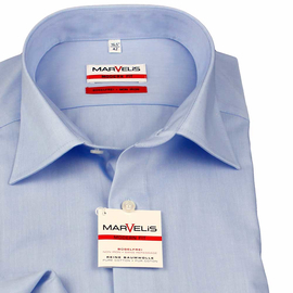 Marvelis Hemd Modern Fit Chambray Langarm (4704-64-11e)