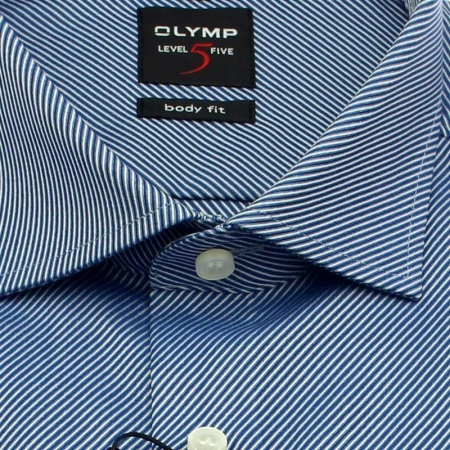 OLYMP Hemd Level Five BODY FIT DIAMANT TWILL Langarm diagonalstreifen
