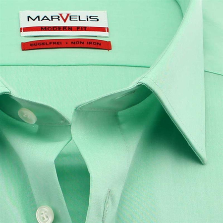 MARVELIS Hemd MODERN FIT Chambray halbarm