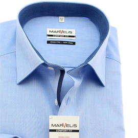 MARVELIS Hemd COMFORT FIT Chambray langarm
