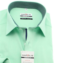 MARVELIS Chambray COMFORT FIT camisa para hombres mangas...