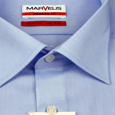 MARVELIS Men´s Shirt MODERN FIT chambray long sleeves (4704-64-11)