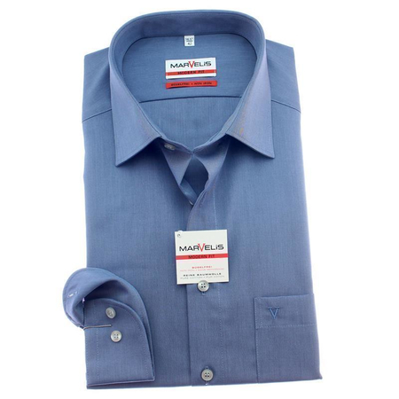 Marvelis Hemd Modern Fit Chambray Langarm 47 (3XL)