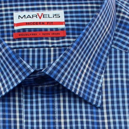MARVELIS Hemd MODERN FIT MINI karo langarm