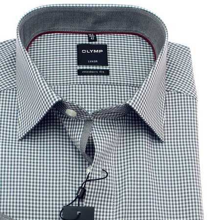 OLYMP LUXOR Men`s Shirt MODERN FIT checked long sleeve