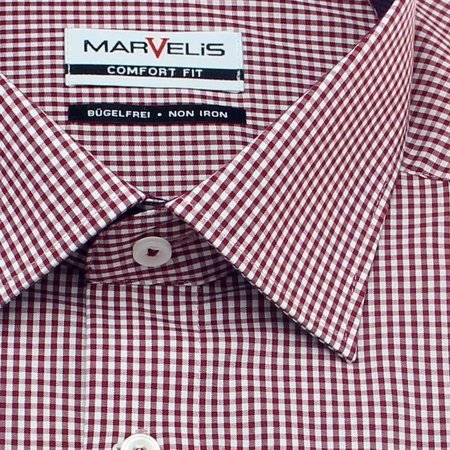 MARVELIS a cuadro camisa para hombres COMFORT FIT mangas largas