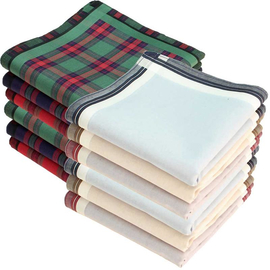 Handkerchiefs 12 pieces ca.40x40cm pure cotton Highland +...