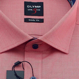 OLYMP Shirt Level Five BODY FIT checks long sleeve