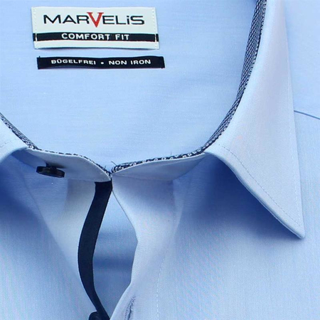 MARVELIS Men`s Shirt COMFORT FIT chambray short sleeve