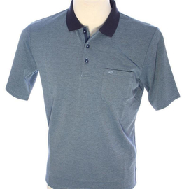 REDMOND poloshirt wash & wear with breast pocket, short...