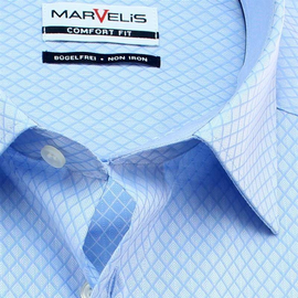MARVELIS Men`s Shirt COMFORT FIT jacquard short sleeve