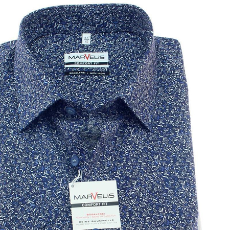 MARVELIS Men`s Shirt modern print COMFORT FIT short sleeve