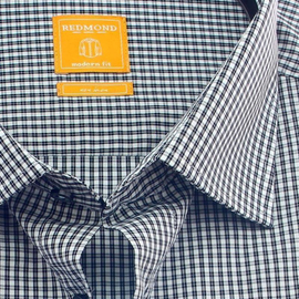 REDMOND Shirt MODERN FIT mini checks long sleeve