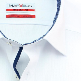 MARVELIS Shirt MODERN FIT FINE TWILL long sleeve