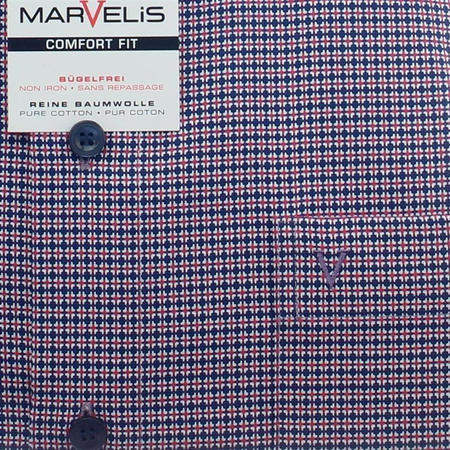 MARVELIS Hemd COMFORT FIT crown karo langarm