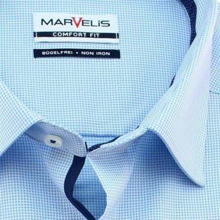 MARVELIS Hemd COMFORT FIT uni langarm mit Ausputz, 34,90 €