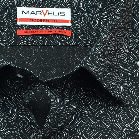 MARVELIS Men`s shirt MODERN FIT print long sleeve