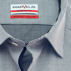 MARVELIS Men`s Shirt MODERN FIT checks long sleeve