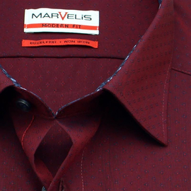 MARVELIS Hemd MODERN FIT chambray langarm