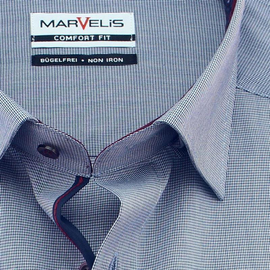 MARVELIS Men`s Shirt checks COMFORT FIT long sleeve