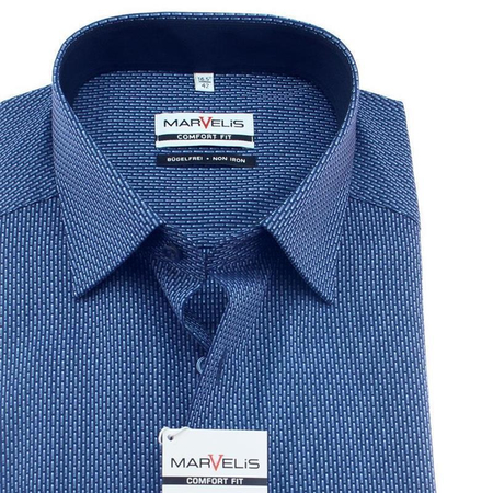 MARVELIS Comfort Fit Men`s Shirt jacquard long sleeve