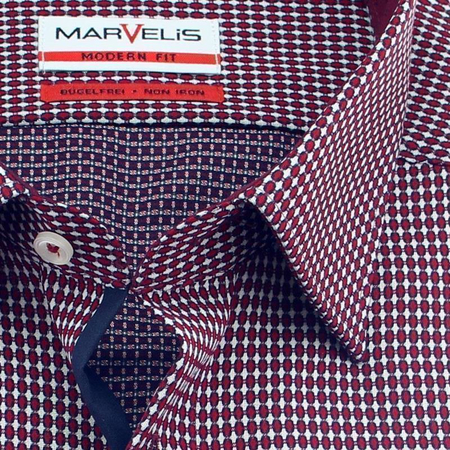 MARVELIS Men`s Shirt MODERN FIT Jacquard long sleeve