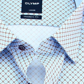 OLYMP LUXOR Men`s Shirt MODERN FIT print long sleeve