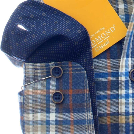 REDMOND Shirt MODERN FIT checks long sleeve, twill